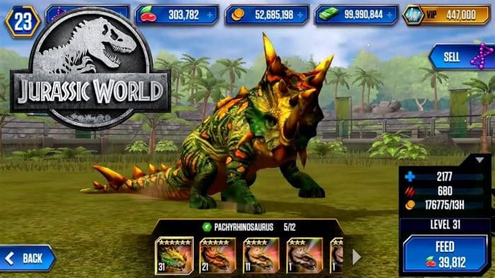 jurassic world mod apk v15015 unlimited money cash